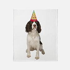 Springer Spaniel Birthday Party Throw Blanket