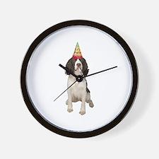 Springer Spaniel Birthday Party Wall Clock