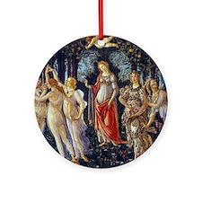 Botticelli: La Primavera Ornament (Round)
