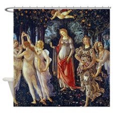 Botticelli: La Primavera Shower Curtain