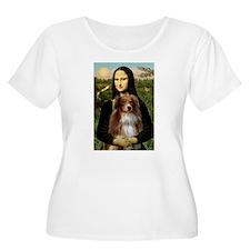 Mona's Red Merle Aussie (M) T-Shirt