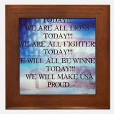 RightOn We are All Lions Framed Tile