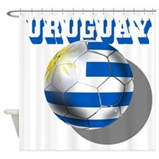 Uruguay Soccer Ball Shower Curtain