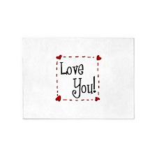 Love You 5'x7'Area Rug