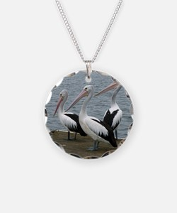 Three Gorgeous Pelicans Necklace