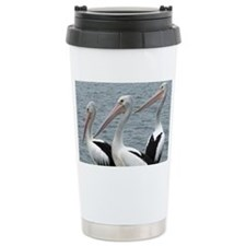 Three Gorgeous Pelicans Stainless Steel Travel Mug