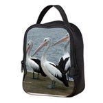Three Gorgeous Pelicans Neoprene Lunch Bag