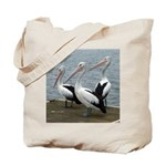 Three Gorgeous Pelicans Tote Bag