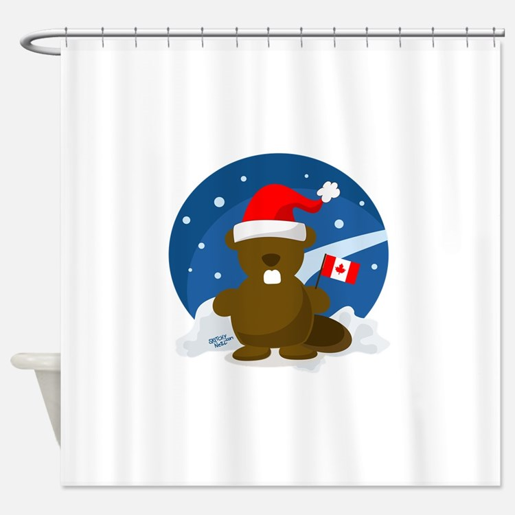 Canadian Christmas Shower Curtains