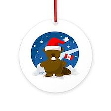 Canada Christmas Ornament (Round)