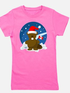 Canada Christmas Girl's Tee