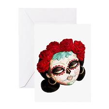 El Dia de Los Muertos Girl Greeting Cards
