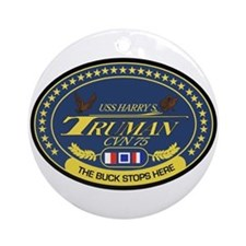 Uss Harry S. Truman Cvn-75 Ornament (round)