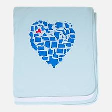New York Heart baby blanket