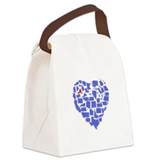 New York Heart Canvas Lunch Bag