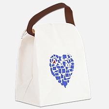 New York Heart Canvas Lunch Bag