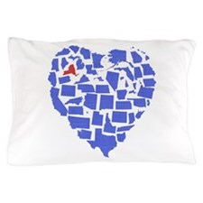 New York Heart Pillow Case