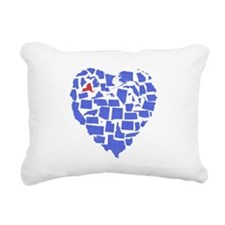 New York Heart Rectangular Canvas Pillow