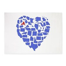 New York Heart 5'x7'Area Rug