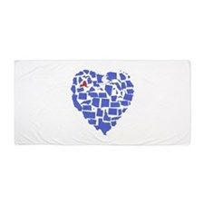 New York Heart Beach Towel
