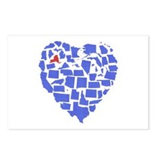 New York Heart Postcards (Package of 8)