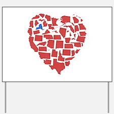 New York Heart Yard Sign
