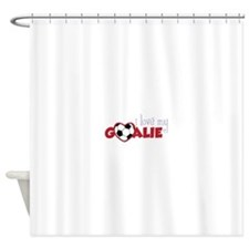 Love My Goalie Shower Curtain