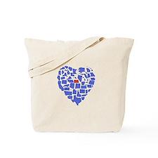 North Dakota Heart Tote Bag