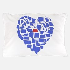 North Dakota Heart Pillow Case