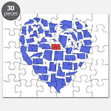 North Dakota Heart Puzzle