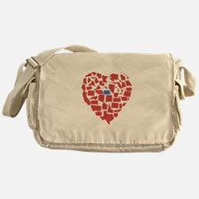 North Dakota Heart Messenger Bag
