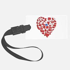 North Dakota Heart Luggage Tag