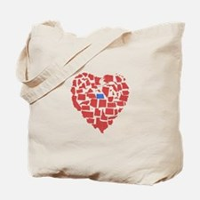 North Dakota Heart Tote Bag