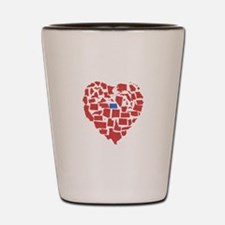 North Dakota Heart Shot Glass