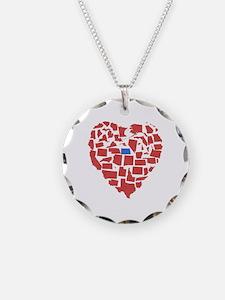 North Dakota Heart Necklace