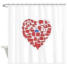 North Dakota Heart Shower Curtain