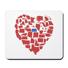 North Dakota Heart Mousepad