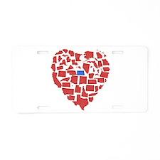 North Dakota Heart Aluminum License Plate