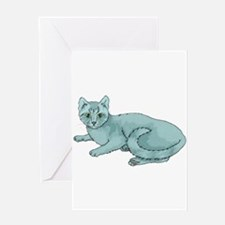 russian-blue-FIN Greeting Cards