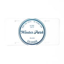 Winter Park Ski Resort Aluminum License Plate