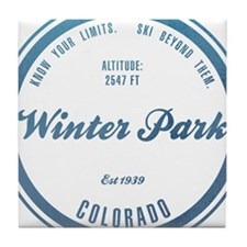 Winter Park Ski Resort Tile Coaster