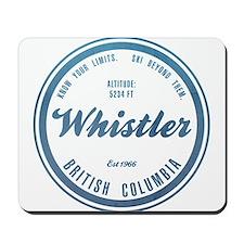 Whistler Ski Resort British Columbia Mousepad