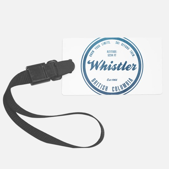 Whistler Ski Resort British Columbia Luggage Tag