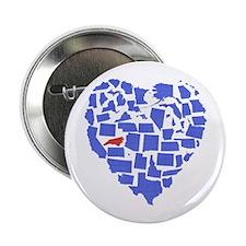 """North Carolina Heart 2.25"""" Button"""