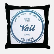 Vail Ski Resort Colorado Throw Pillow