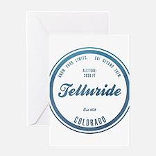 Telluride Ski Resort Colorado Greeting Cards