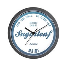 Sugarloaf Ski Resort Maine Wall Clock