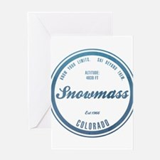 Snowmass Ski Resort Colorado Greeting Cards