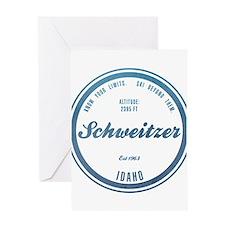 Schweitzer Ski Resort Idaho Greeting Cards