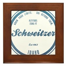 Schweitzer Ski Resort Idaho Framed Tile